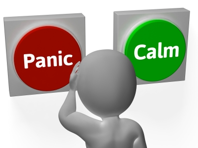Panic Calm Buttons Show Worrying Or Tranquility Image courtesy of Stuart Miles at FreeDigitalPhotos.net