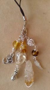 Prosperity Talisman with Citrine and Tigers Eye - Handmade Healing Crystal Charm/Pendant by Eva Maria Hunt
