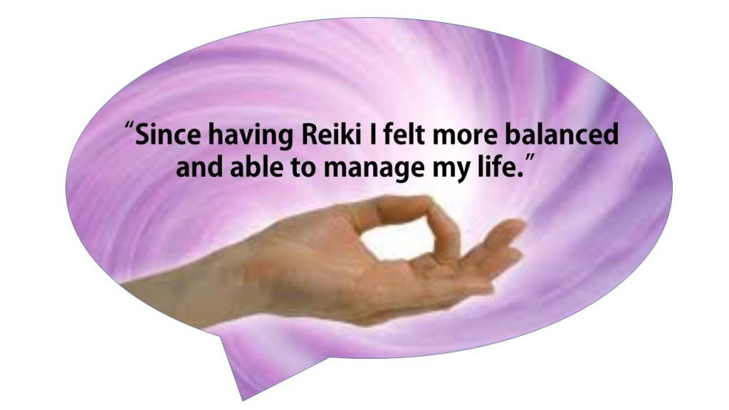 Reiki bubbles hand