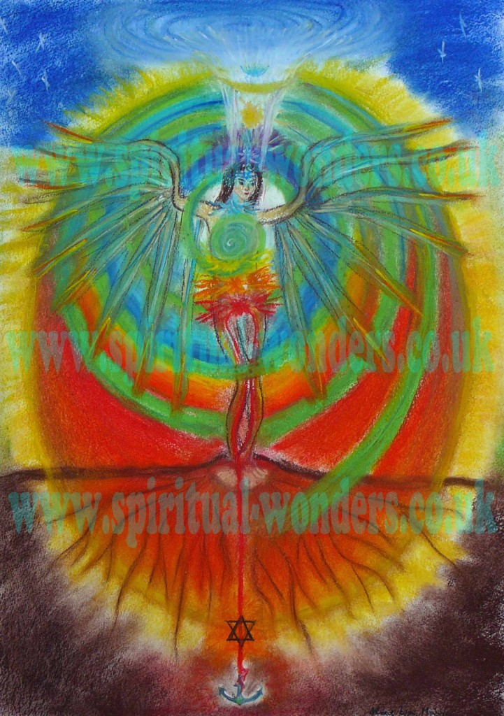 Spirit in Human Body - Soft Pastel by Eva Maria Hunt www.spiritual-wonders.co.uk