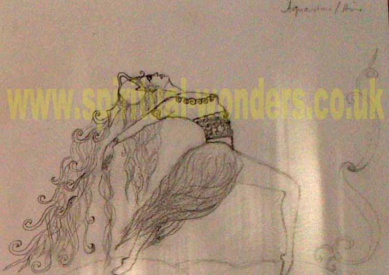 Aquarius Pencil sketch by Eva Maria Hunt