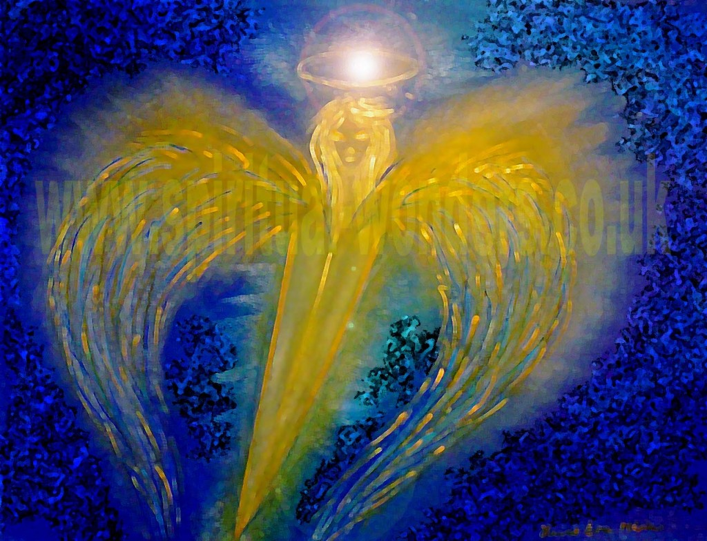 Archangel Michael by Eva Maria Hunt, Soft Pastel & Digital Art, 2015