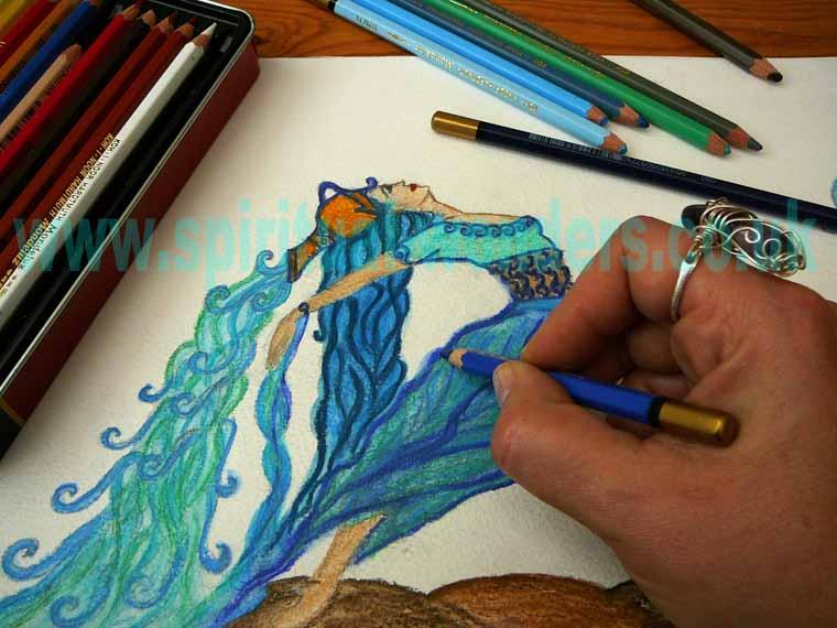 Aquarius Watercolour Pencil by Eva Maria Hunt