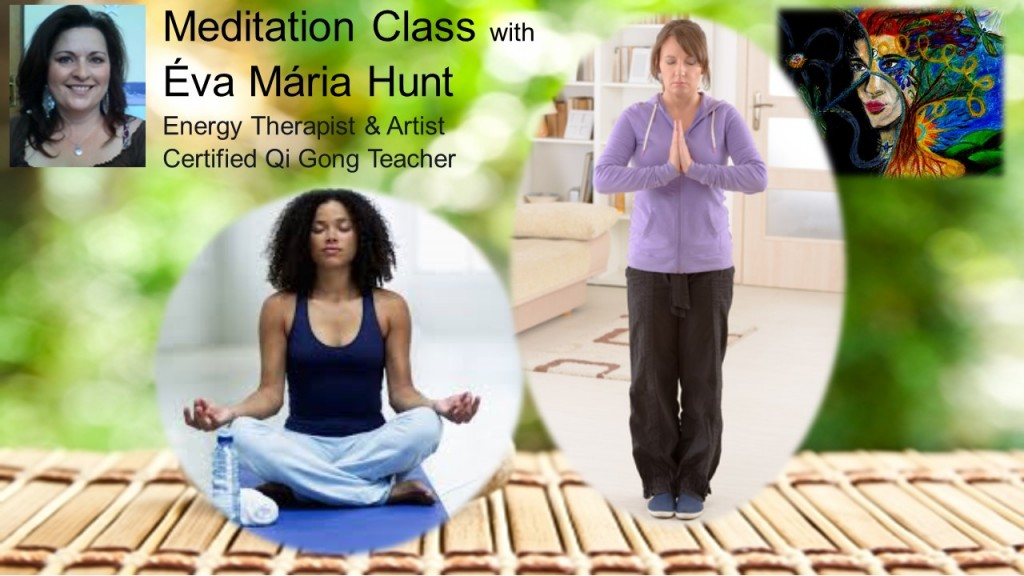 Meditation class with photo