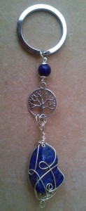 Tree of Life Keyring with Lapis Lazuli2