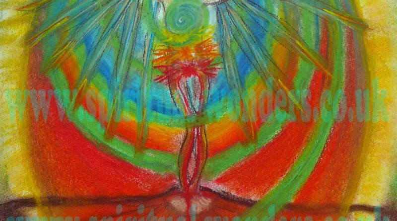 Spirit in Human Body Soft Pastel by Eva Maria Hunt Energy Therapist & Artist