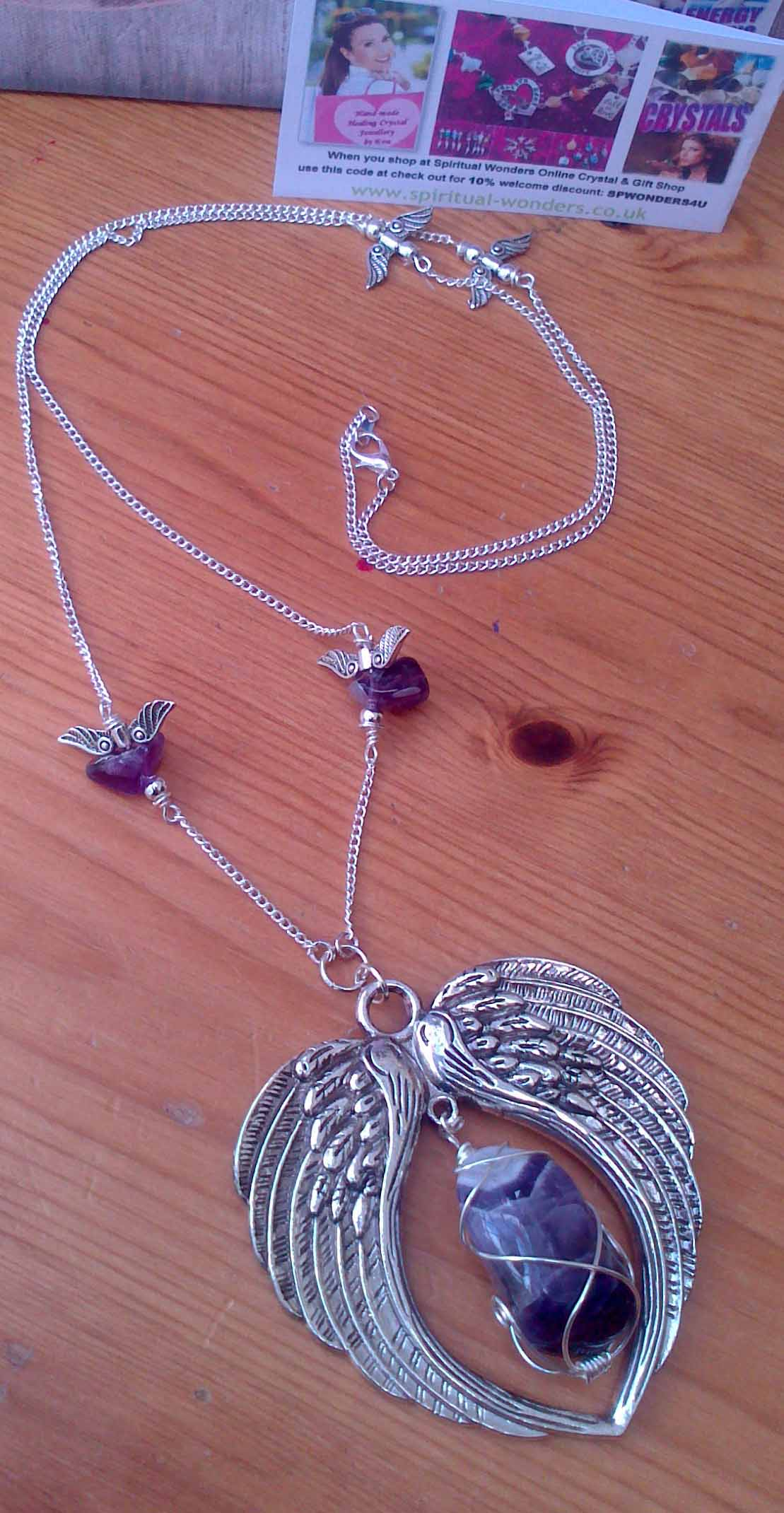 Angel Wings Amethyst Necklace
