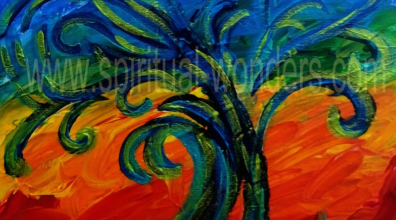 Tree of Creativity, Acrylics by Eva Maria Hunt, Energy Therapist and Artist